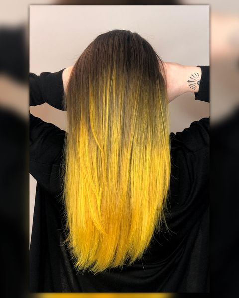yellow Sunflower Hair Color