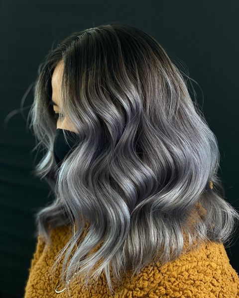 Ash Gray with Highlights