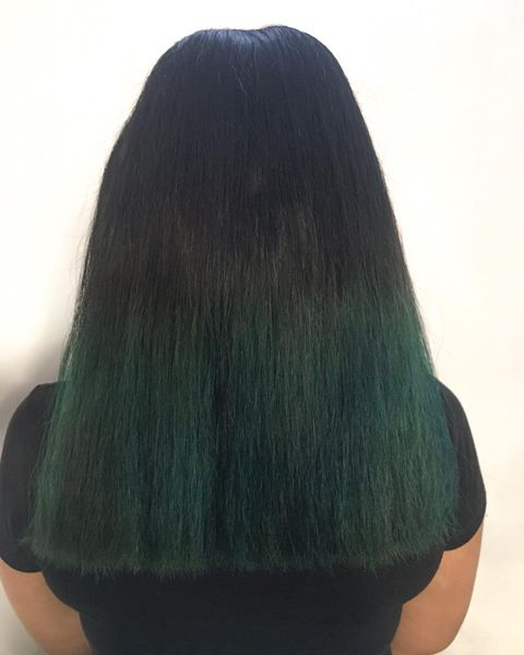 The Dark Forest Green Ombre Hair