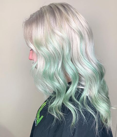 The Soft Mint Green Ombre Hair