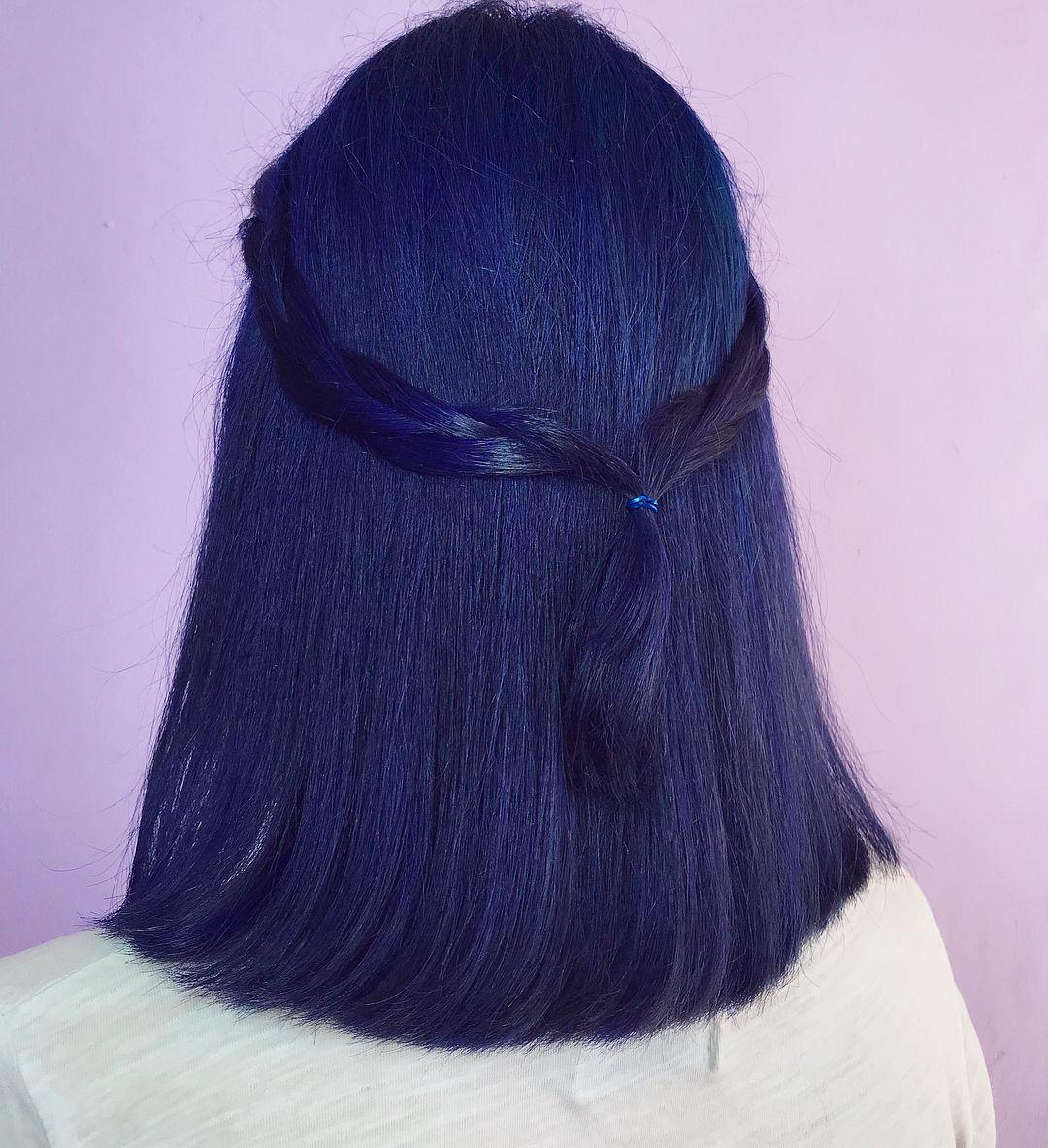 Navy blue hair color