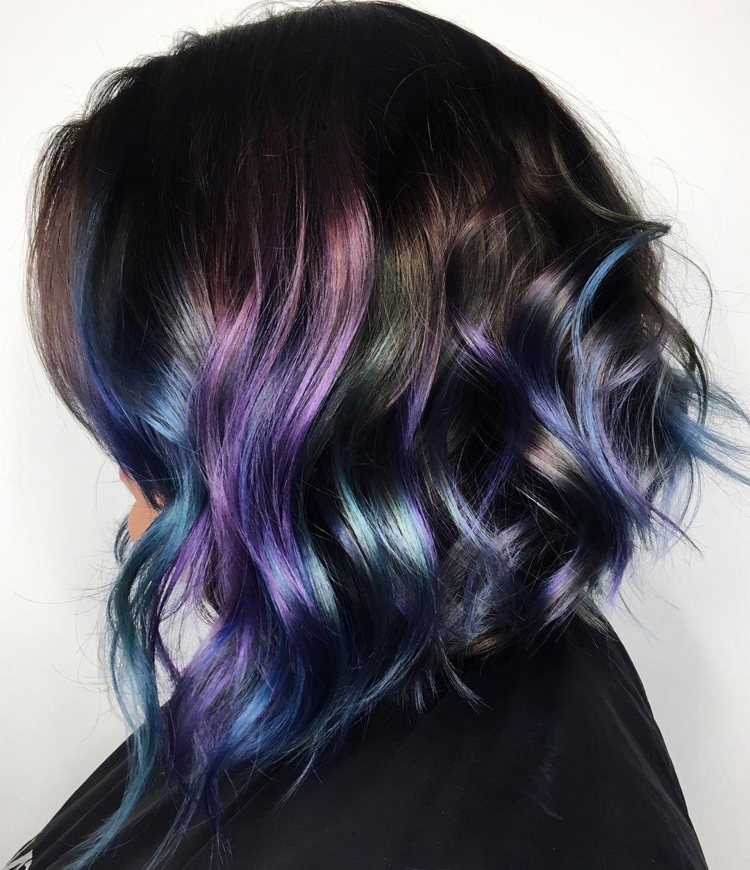 Peacock hair color